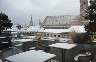 Schnee zum Münchner Stoff Frühling 2018
