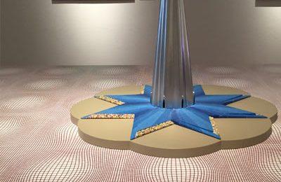 "Architekturmodell von Mendini: ""Torre del Paradiso"" für Hiroshima, 1989."