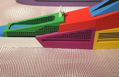 In der Triennale: schönste Ausstellung waren die Architekturmodelle (und Entwürfe fürYachten) von Alessandro Mendini – meistens nicht realisiert, leider.