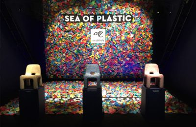 """Öko-Projekt """"Ecobirdy"""": Kinderstühle aus recyceltem Plastikmüll von den Meeren."""