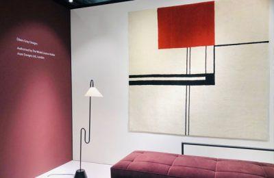 """ClassiCon: Designklassiker """"Day Bed"""" und Teppich von Eileen Gray."""